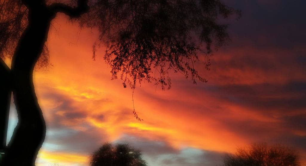 Sunset outside our home in Phoenix