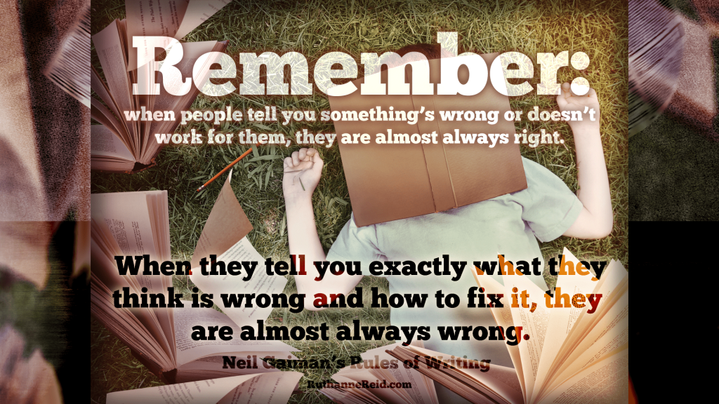 Neil Gaiman's Rules for Writing (Rule five)