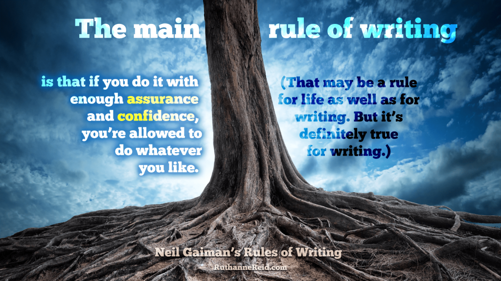 Neil Gaiman's Rules for Writing (Rule eight part one)