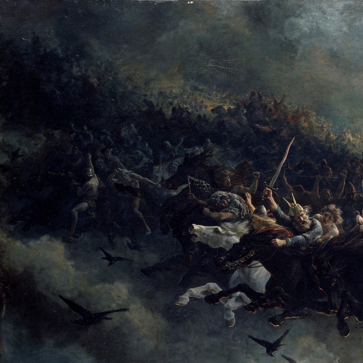 Asgårdsreien [The Wild Hunt of Odin] (1872) by Peter Nicolai Arbo